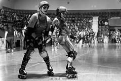rebels_vs_panic_L1063639 1 (nocklebeast) Tags: ca usa santacruz rollerderby rollergirls zombies vampires skates organicpanic santacruzderbygirls redwoodrebels