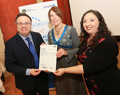 Virginia Anderson from Glenada Hotel, Newcastle at the WorldHost Celebration and Certificate Presentation