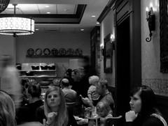 6pm (Renee Rendler-Kaplan) Tags: autumn people blackandwhite fall dinner canon october sitting gbrearview indoors staff sit inside seated bustle dinnertime gapersblock wbez customers chicagoist 2015 6pm reastaurant peopleworking peoplesitting unclejulios reneerendlerkaplan canonpowershotsx40hs