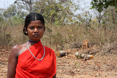 Local woman in the tribal village of Siribeda, Odisha (sensaos) Tags: travel red portrait people woman india asia village culture tribal tribe ethnic orissa cultural indigenous 2013 odisha sensaos