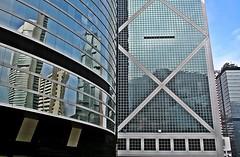 Bank of China, Citibank & Lippo Bank Reflection Hong Kong Central (zorro1945) Tags: china hk glass reflections hongkong asia skyscrapers central asie citibank modernarchitecture chine hongkongisland lippocentre honkers bankofchina steelglass hongkongcentral