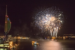 GUNWHARF FIREWORKS 2015 (mark_rutley) Tags: wind fireworks harbour windy hampshire celebration portsmouth spinnakertower november5th spinakertower gunwharfquays fireworknight