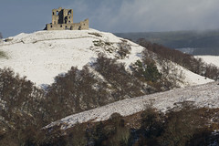 PJD_3061 (Xpanding Horizons) Tags: trees winter snow castle scotland hill ruin moray auchindoun