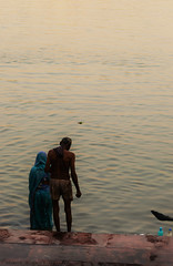 || Morning Snan || (SouvikMetiaPhotography) Tags: old morning portrait people india color river nikon flickr bare documentary stranger wife dailylife bathing devotee saree kolkata snan ghat