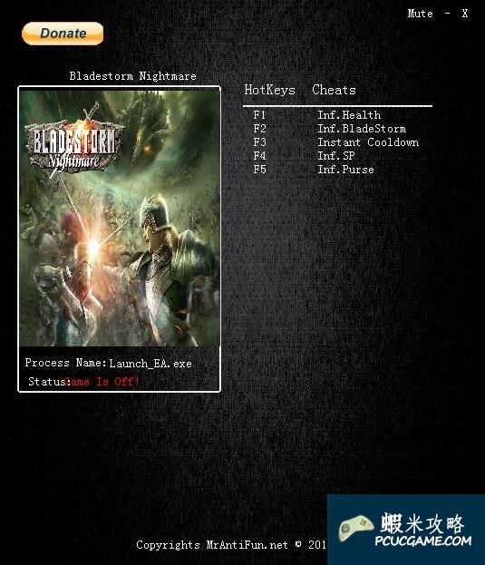 劍刃風暴:百年戰爭&噩夢 v1.0五項修改器MrAntiFun版