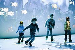 Deep Space 8K: Play Space (Ars Electronica) Tags: arselectronica arselectronicacenter deepspace deepspace8k mediaart medienkunst children kids running laufen kind kinder fish fische spiel game spiele games play playing light projections floor wall boden wand linz austria
