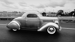 Years gone by (B Bessim) Tags: vintage car vehicle automobile runningboards fenders whitewall tyres chrome bw blackandwhite monochrome