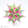 30° Bascetta-like Star (Maria Sinayskaya) Tags: 10010 15cmdoublesided 3dorigamistar daiyoshiko folded kamipaperduocolorcolor kusudama mariasinayskaya modularorigami origami origamispikes origamistar square мариясинайская