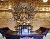 Golden Bodhisattva with multiple arms (kasiahalka (Kasia Halka)) Tags: unescoworldheritagesite giantwildgoosepagoda bigwildgoosepagoda buddhistpagoda tangdynasty 652 morningbell godofwealth xuanzang xian china