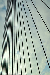 20121019-III-032 (Brinkervelt2011) Tags: lines parallel alignment cables bridge clouds angle perspective