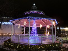 Bandstand decorated for Christmas (Will S.) Tags: mypics fraserpark trenton ontario canada bandstand lights christmas night nighttime dark xmas noel weihnacht