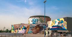 PLAZA DE ARMAS Bus Station SEVILLE SPAIN (Keith Ola Shoebridge (olamefein)) Tags: street art graffiti seville spain el niño artist spanish