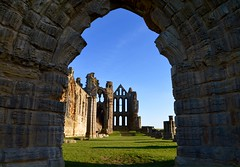 The Nave (rustyruth1959) Tags: nikon nikond3200 tamron16300mm yorkshire whitby whitbyabbey outdoor arch building structure architecture abbey church monastery stonework column ruins grass green sky blue windows