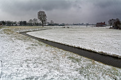 At Last Some Snow In Wervershoof (Alfred Grupstra) Tags: ditch landscape meadow snow trees wervershoof noordholland nederland nl