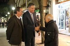 Alfonso Alonso y Garcia Albiol paseando por Badalona
