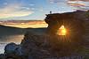 midnight photographer (berny-s) Tags: midnight sun arch rock geology kirkeporten nordkapp backlight beams rays sea light fjord imi photographer wow