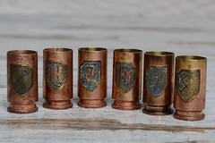 03 (Trench_Art_Studio) Tags: shell shot glass brass trench art ww2 military vintage great gift men trenchartstudio trenchart shotglass shotglasses glasses set cool unique old antique wedding vodka glassvodka nilitary handicraft steampunk dieselpunk style vodkashot partypeople vodkalove drunktimes alcohol partyday shotglasscollection beautiful reenactors collectors
