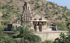 Abandoned temple at Bhangarh Rajesthan India (Dave Russell (1.5 million views thanks)) Tags: devi mangala abandoned temple religion religious building architecture outdoor bhangarh rajesthan india haunted ghost ghosts 17th century landscape view scene scenery simplysuperb simply superb auto focus autofocus