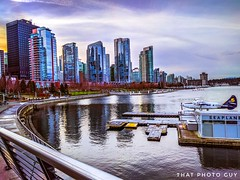 """""""We wanderers, ever seeking the lonelier way, begin no day where we have ended another day; and no sunrise finds us where sunset left us."""" (gwrdhqsd3) Tags: coalharbour downtownvancouver beautifulbc seawall"""
