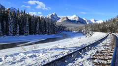Morant's Curve (fred.colbourne) Tags: morantscurve banffnationalpark winter train tracks trees snow river canada