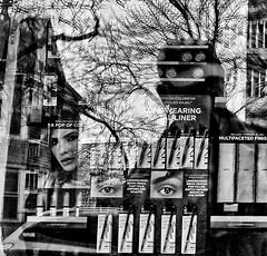 (daveson47) Tags: monochrome mono blackandwhite bw street streetphoto streetphotography reflection ricoh ricohgrd grd window