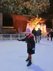 Violet Skating In Rockefeller Center (Joe Shlabotnik) Tags: iceskating december2016 skating manhattan rockefellercenter statue prometheus 2016 newyorkcity nyc violet fountain 60225mm