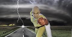 Senza titolo-3 (Mauro Petrolati) Tags: saitama one punch man opening montaggio fotocomposizione composition storm tempesta lightning fulmine