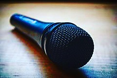 """""""Walk up to a mic  and spit""""  Can't do that- YET.  Mediocrity? Is me... I see-  Admit n Workin on it  #poem #poetry #rhyme  This one alone took 20 min 👧  Image : https://upload.wikimedia.org/wikipedia/commons/thumb/9/91/SennMicrophone.jpg/220px-SennM (elizabethamurguia) Tags: poetry rhyme poem"""