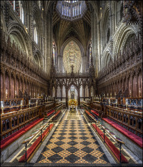 Ely Cathedral 15 (Darwinsgift) Tags: ely cathedral cambridgeshire interior architecture hdr photomatix pce nikkor 24mm f35 tilt shift photostich church
