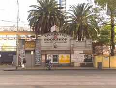 Liberated Bookshop (misterworthington) Tags: melbourne australia joshuasmith liberatedbookshop justinbeiber cycling city street derelict loveyourself midcitynewsagency justinolsen buddha cbt flindersstreet