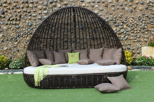 Rattan Wicker Sunbed Furniture