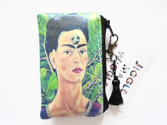 Frida Khalo Jungalow card wallet. (Jigglemawiggle) Tags: waterproofpouch businesscardwallet cardwallet etsy folksy shophandmade buyhandmade shoplocal fridakhalo jungalow mexican