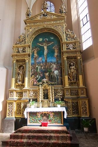 Ołtarz główny (1547, Giovanni Cini) w kościele Wniebowzięcia NMP i św. Stanisława BM w Bodzentynie