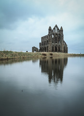 Whitby Abbey Ruins, N. Yorkshire (tog@goldenhour) Tags: whitbyabbey ruins ruined northyorkshire uk dracula moody reflection toggoldenhour canoneos80d canonefs1022mm