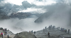 Lysefjorden, Rogaland, Norge (North Face) Tags: norge norway norwegen preikestolen fjord lysefjord water fog clouds mountains nature foggy rainy monotone summer landscape canon eos 5d mark iii 5d3