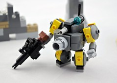 """Tubby"" Trooper (Deltassius) Tags: mobile frame zero lego space war military mech mecha robot scifi twank"