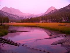 McClure Meadow sunset (clifton dobbie) Tags: darwin evolution kingscanyonnationalpark evolutioncreek mccluremeadow valleymt mendelmt