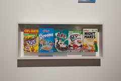 Cereal Boxes - Jani Leinonen (G. J. Winterboer) Tags: uk streetart graffiti mare satire banksy super antiwar westonsupermare weston anticonsumerism canon5dmkii canon5dmarkii bemusementpark dismaland