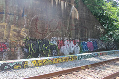 Oc, Dnie, Emsek (NJphotograffer) Tags: new railroad bridge graffiti nj rail jersey graff oc mhs trackside dnie emsek