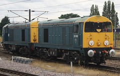 20150809 - 6201 - HNRC & GBRf - 20096 & 20107 - The Noah's Ark - 0942 Glasgow Central to Crewe - Doncaster (Paul A Weston) Tags: doncaster class20 hnrc gbrf thenoahsark 2009620107 0942glasgowcentraltocrewe