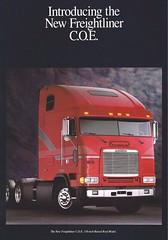 1993 Freightliner 110-inch raised roof (PAcarhauler) Tags: tractor semi coe freightliner cabover