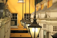Lamp Light ........ (acwills2014) Tags: yellow wall architecture arcade cardiff victorian lamps lamplights castlearcade