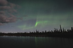Aurora At Round Lake (WALTONKSM) Tags: alaska aurora lakelouise northernlights auroraborealis glennhighway roundlake roundlakeak lakelouiseak