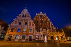 House of Blackhead (A.Nilssen Photography) Tags: house night baltic latvia nighttime riga lettland blackheads baltikum
