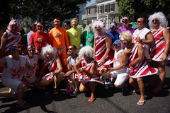 Pre Carnival Parade, Provincetown MA (Boston Runner) Tags: carnival drag costume provincetown massachusetts group candycane candyland lifesavers 2015 hardcandy