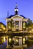 Korenbeurs Schiedam (PROSPECT2607) Tags: longexposure blue building netherlands yellow architecture reflections blauw outdoor nederland nightshots geel goldenhour schiedam reflectie korenbeurs avondfotografie