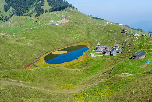 Prashar Lake from the hillock nearby