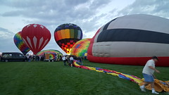 Laying out the balloon