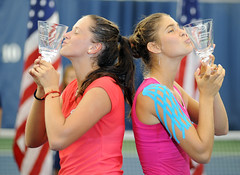Viktoria Kuzmova and Aleksandra Pospelova, 2015 US Open Day 13 (AshMarshall) Tags: usa newyork us open queens tennis 2015 2015usopen