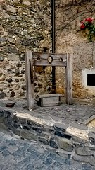 In the Stocks (carolinebridget789) Tags: wood castle history stone wall germany stocks criminal crime punishment braunfels pillory
